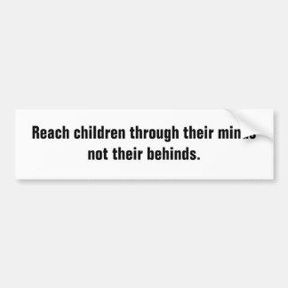 Crianças do alcance com suas mentes adesivo para carro