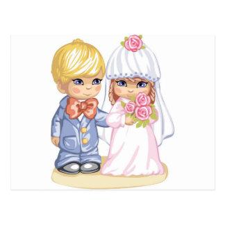 Crianças do casamento cartão postal