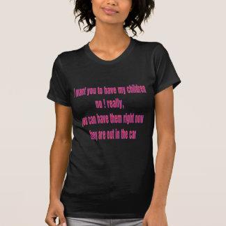 crianças t-shirts
