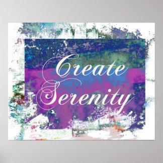 Criar a arte abstracta da serenidade poster
