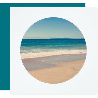 Criar a beira do branco da foto do círculo convite quadrado 13.35 x 13.35cm