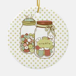 Criar o frasco de pedreiro e o ornamento dos