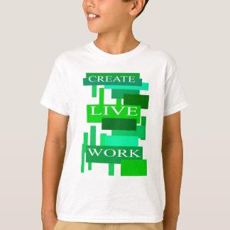 Criar o trabalho vivo camisetas