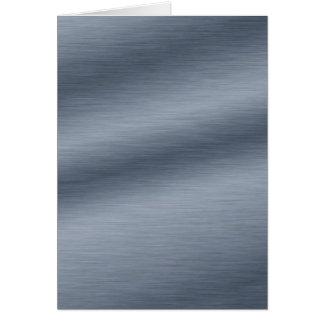 Criar seu próprio cartão com olhar de aço escovado