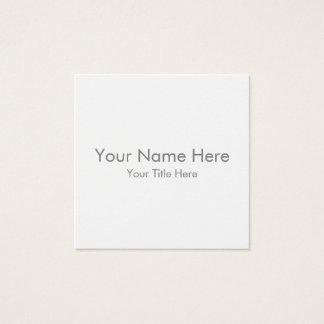 Criar seu próprio cartão de visita quadrado