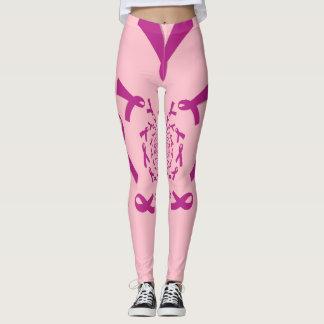 Criar seu próprio cuidado cor-de-rosa bonito do leggings
