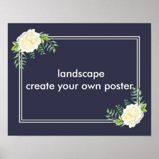 Criar seu próprio impressão do poster da paisagem