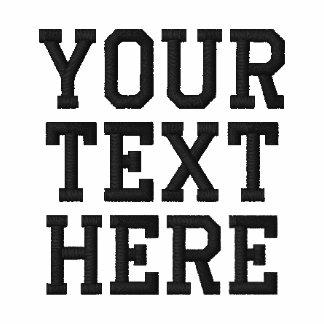 Criar seu próprio polo bordado do texto
