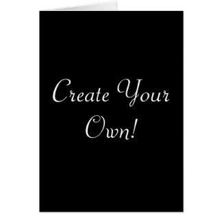 Criar seu próprio preto cartão comemorativo