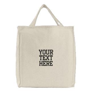 Criar seu próprio saco bordado bolsa tote bordada