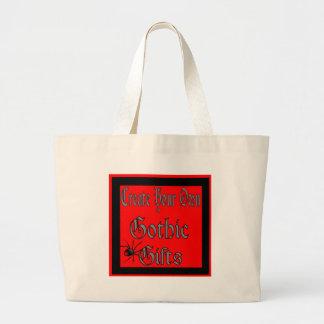 Criar seus próprios modelos góticos dos presentes bolsa de lona