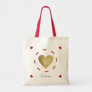criar sua própria sacola de corações do amor bolsa tote