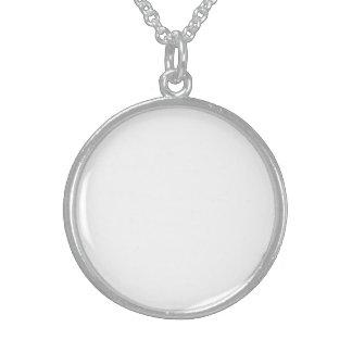 Crie o seu Próprio Medalhão de Prata de Lei Colar De Prata Esterlina