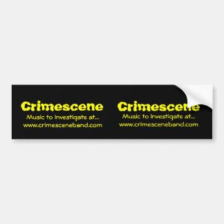 Crimescene, Crimescene, música a investigar em… Adesivo Para Carro