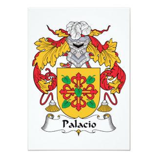 Crista da família de Palacio Convite 12.7 X 17.78cm