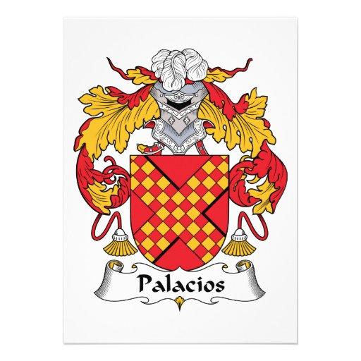 Crista da família de Palacios Convites