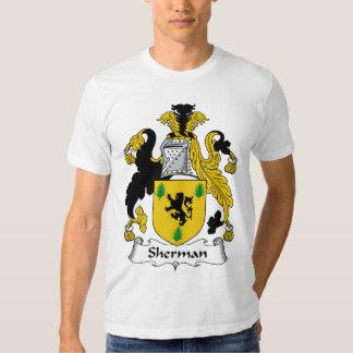 Crista da família de Sherman T-shirts