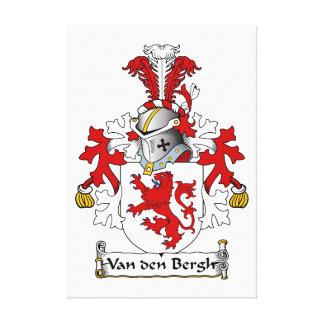 Crista da família de Van antro Bergh Impressão De Canvas Envolvida