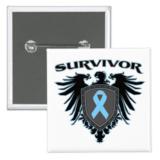 Crista do sobrevivente do cancro da próstata bóton quadrado 5.08cm