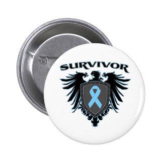 Crista do sobrevivente do cancro da próstata bóton redondo 5.08cm