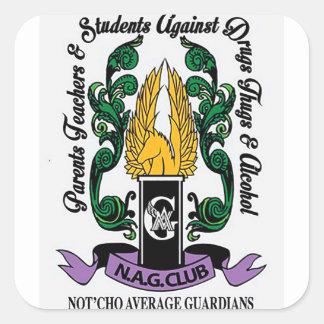 Crista média dos guardiães de Not'Cho Adesivo Quadrado