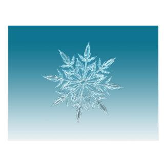 Cristal do floco de neve cartão postal
