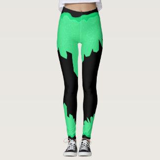 cristal verde que legging