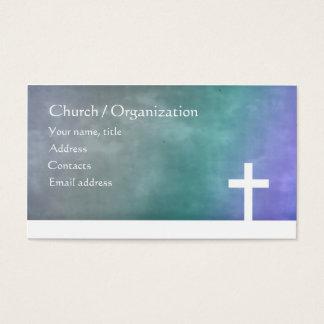 Cristandade - cartão azul religioso da cruz do