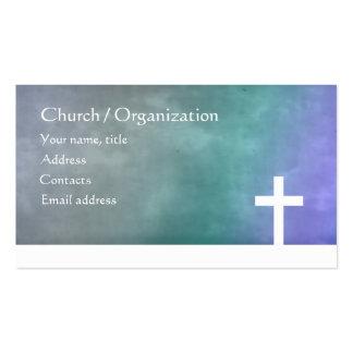 Cristandade - cartão azul religioso da cruz do inc cartão de visita