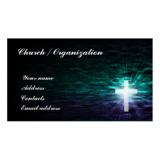 Cristandade - cruz religiosa no cartão da água cartão de visita