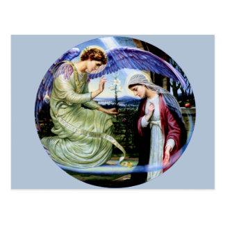 Cristandade da religião do anjo do santo cartão postal