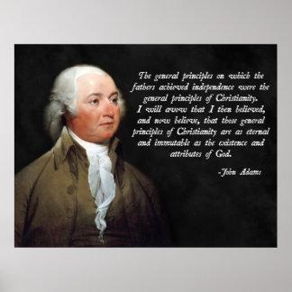 Cristandade de John Adams Poster