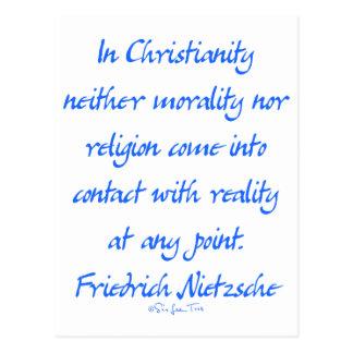 Cristandade de Nietzsche Cartão Postal