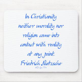 Cristandade de Nietzsche Mousepads
