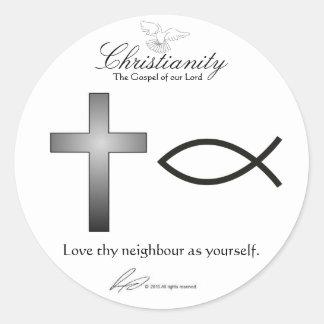Cristandade - etiquetas adesivo