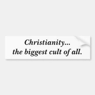 Cristandade… o culto o mais grande de todos adesivo para carro