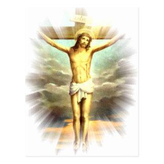 Cristo na cruz para seus pecados cartão postal