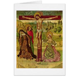 Cristo na cruz pelo mestre de Budapest Cartão Comemorativo