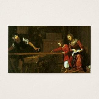 Cristo na oficina de Joseph cerca de 1610-1625 Cartão De Visitas