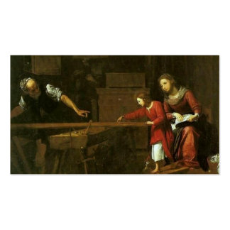 Cristo na oficina de Joseph cerca de 1610-1625 Cartão De Visita