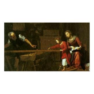 Cristo na oficina de Joseph cerca de 1610-1625 Cartões De Visita