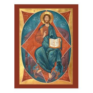 Cristo no cartão da glória