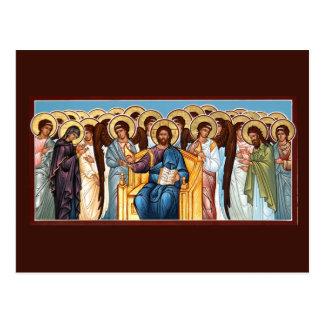 Cristo no cartão da oração da glória
