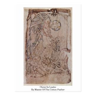 Cristo no limbo pelo mestre do Algodão-Psalter Cartão Postal