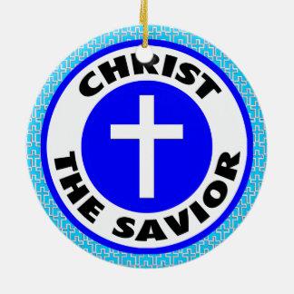 Cristo o salvador ornamento de cerâmica