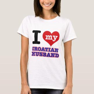 Croata mim design do coração t-shirt