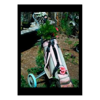 Cromo de colecção azul & cor-de-rosa do saco de cartão de visita grande