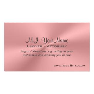 Cromo-efeito cor-de-rosa luxuoso do cartão de visita