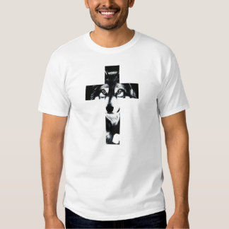 Cross Wolf Camisetas
