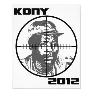 Crosshairs 2012 do alvo de Kony Joseph Kony Flyer 11.43 X 14.22cm